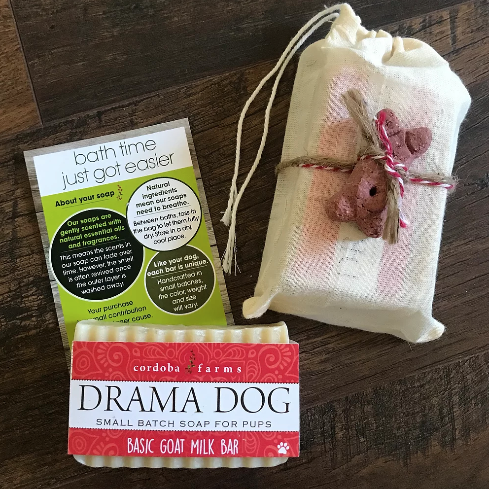 Drama Dog - Basic Goat Milk - Dog Soap Bar