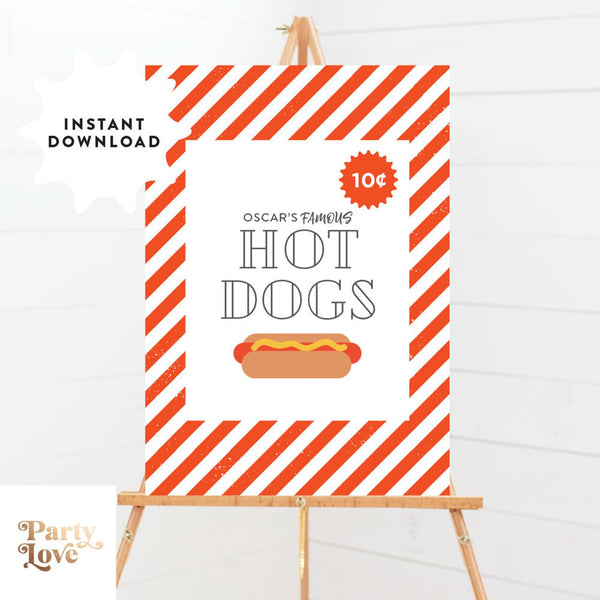 hot dog party poster