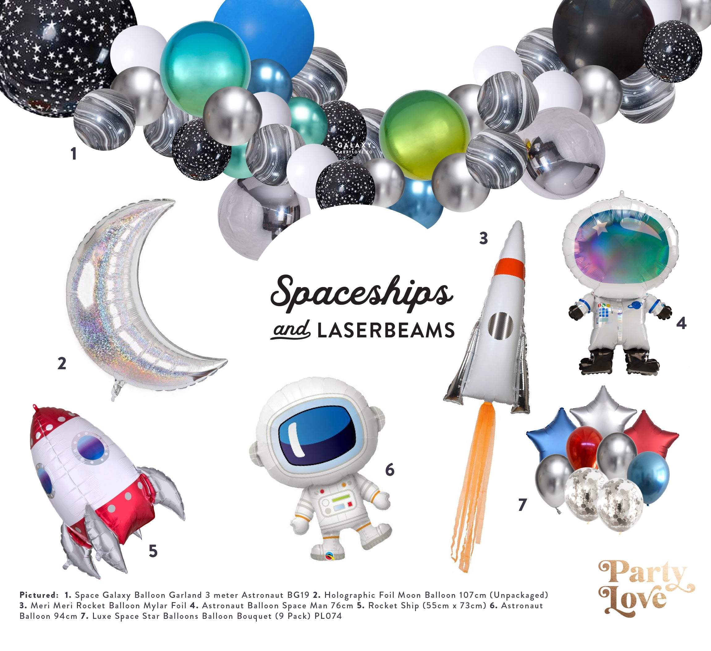 Space Rockets & Robots Party Decorations