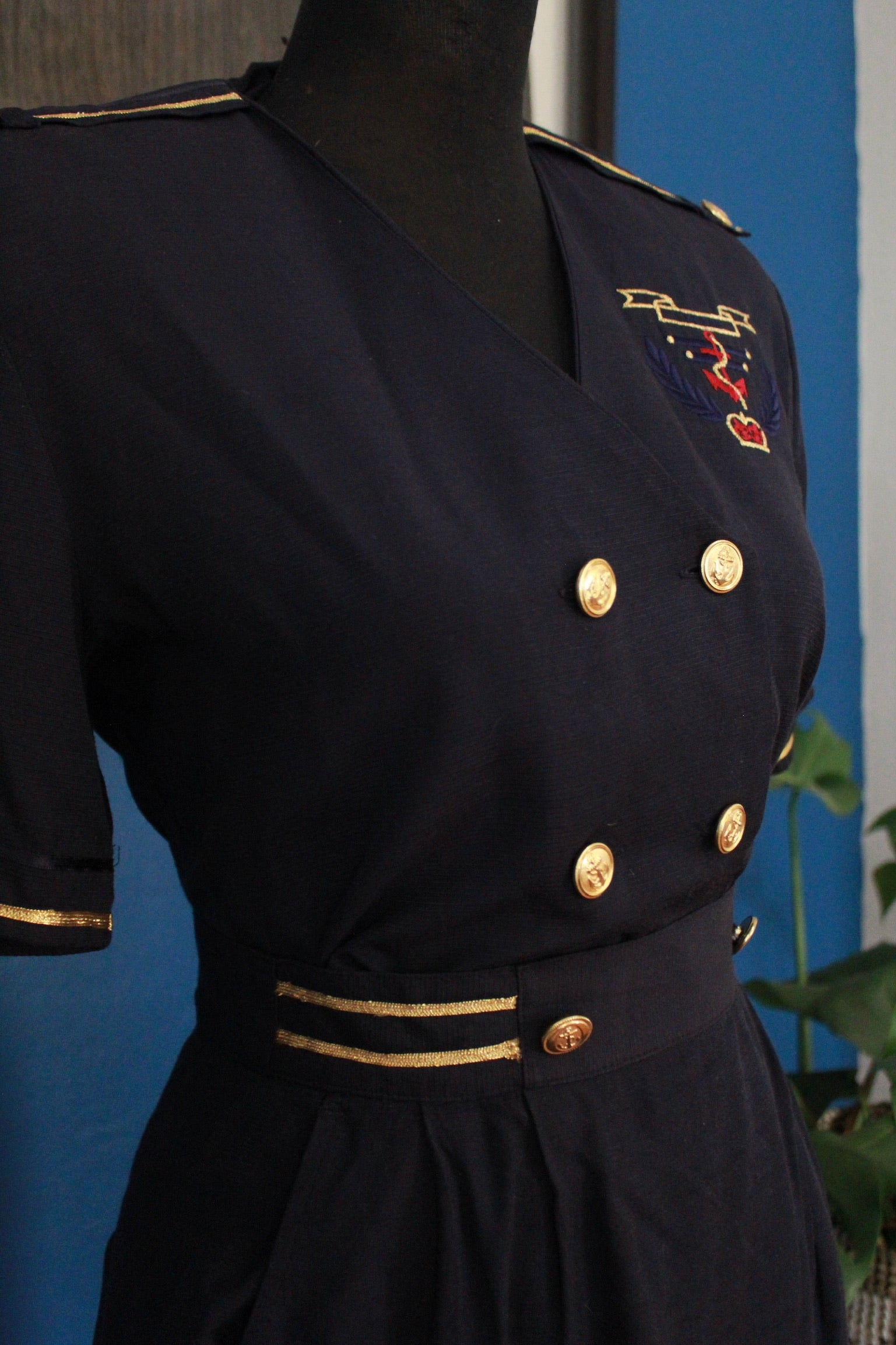 Vintage Navy Two Piece