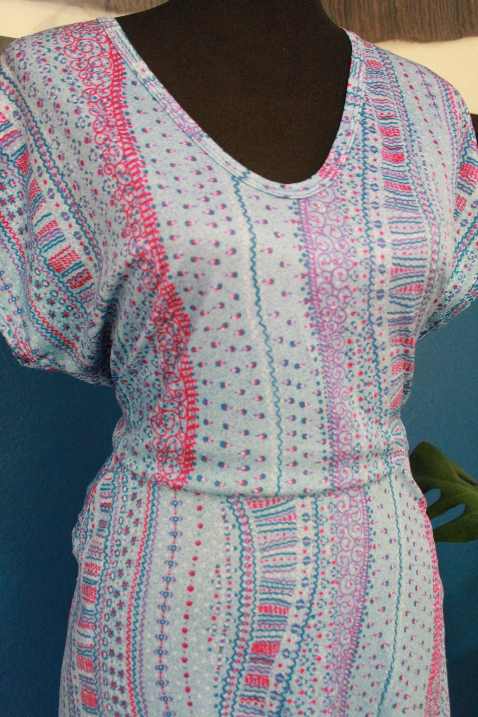 Vintage Short Sleeved Summer Dress