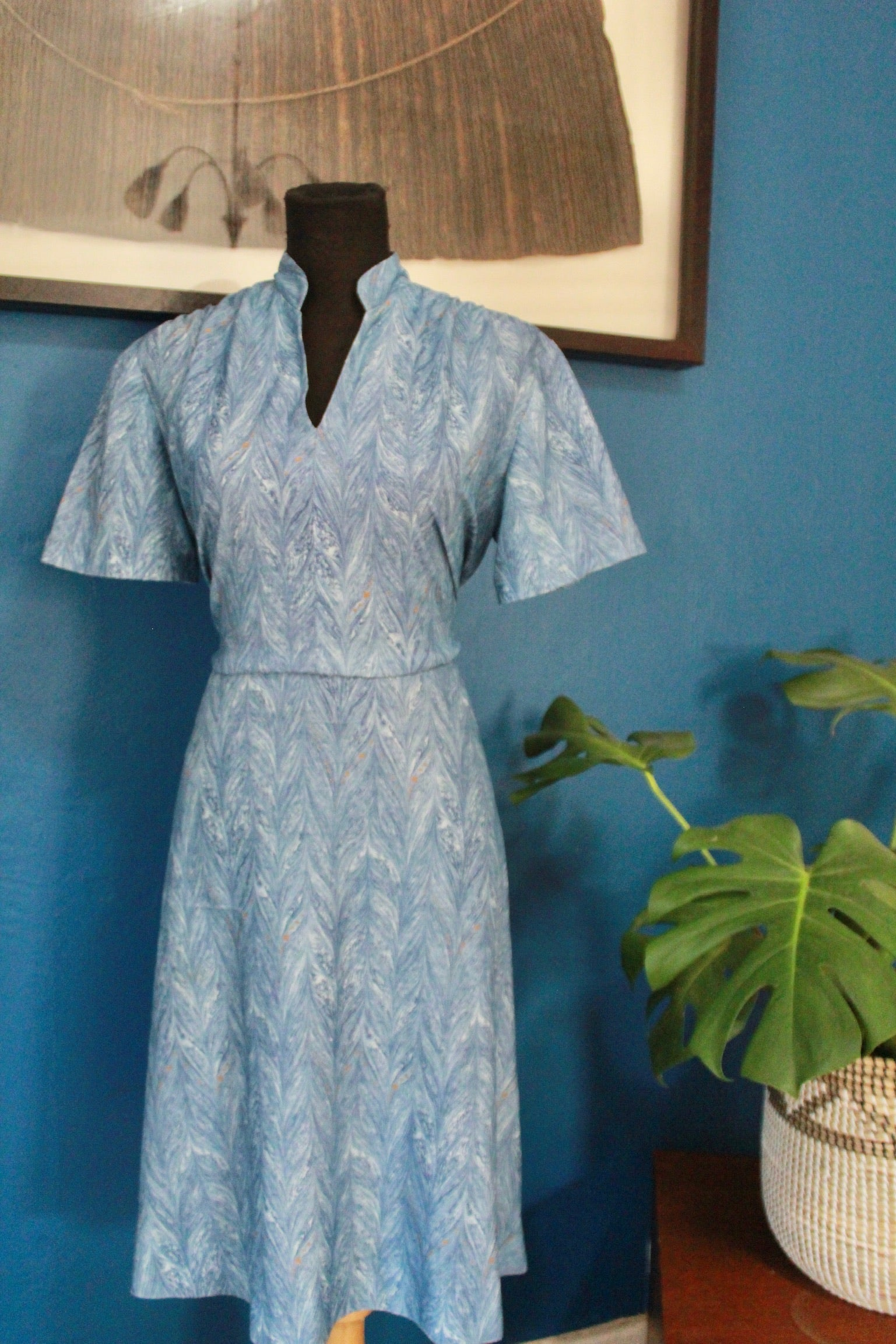 Vintage High Collar Summer Dress