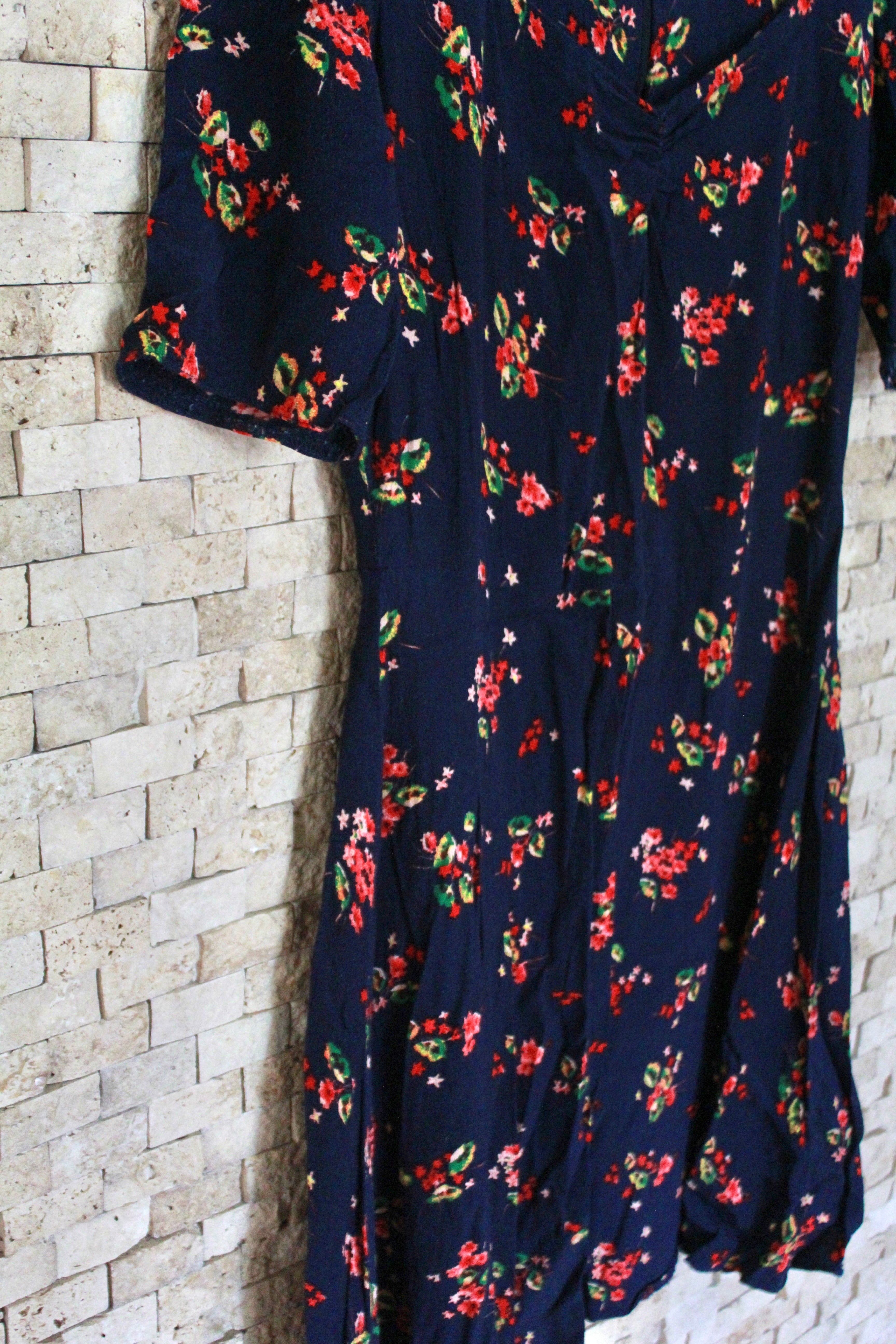 Vintage Short Sleeved Dress
