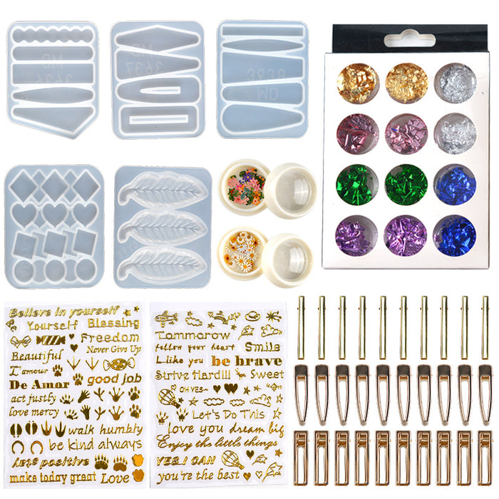 DIY handmade resin hairpin package accessory Kit