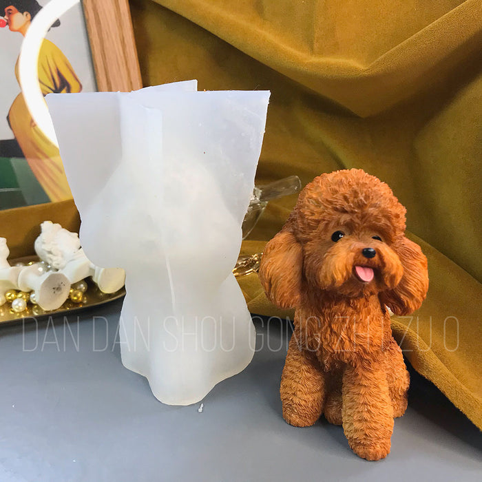 Moryal exclusive handmade DIY  3D mold Teddy dog thin silicone mold