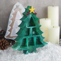 DIY Christmas tree house decoration silicone resin mold