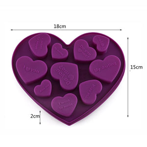 Heart Shape Letters silicone Baking Mold