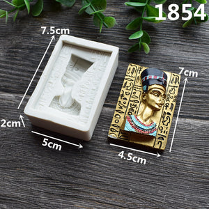 Egyptian Pharaoh Silicone Cake Mold Chocolate Mold Fondant Cake Decoration Mold