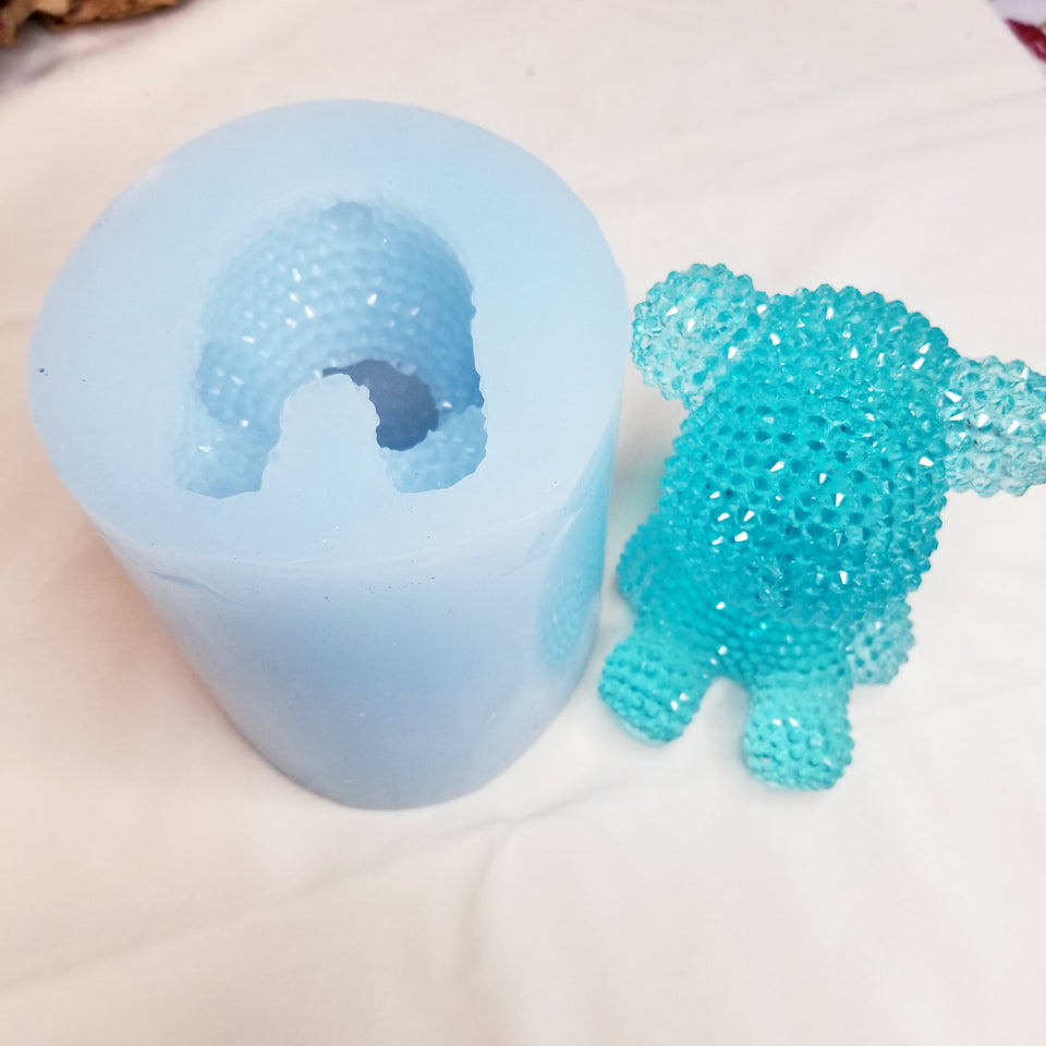 Moroyal exclusive handmade bling bear mold silicone mould