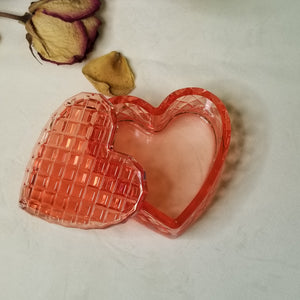 Handmade jewelry trinket box heart shape jewelry box for girls