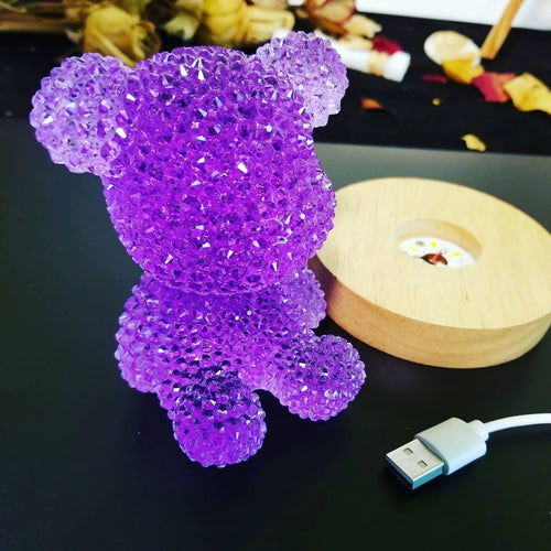 Bear bling night light kids bedroom childs playroom gift for kids 3D bear led night light