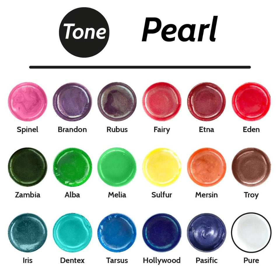 18 Colors Pearl Epoxy Resin Pigment Past Kit 30 ml Dye Coloring Colorant