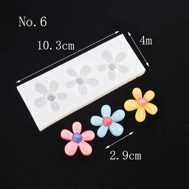Silicone Mold for jewelry diy FLOWERS Resin Silicone Mould handmade Resin  epoxy resin molds