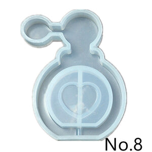 Quicksand pendant Silicone Mold jewelry making DIY tool UV epoxy resin molds Dried Flower Resin key Decorative Crafts
