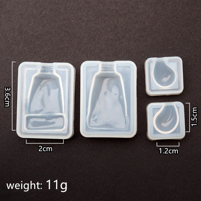 toothpaste Silicone Mold jewelry making DIY tool UV epoxy resin molds Dried Flower Resin Decorative Crafts