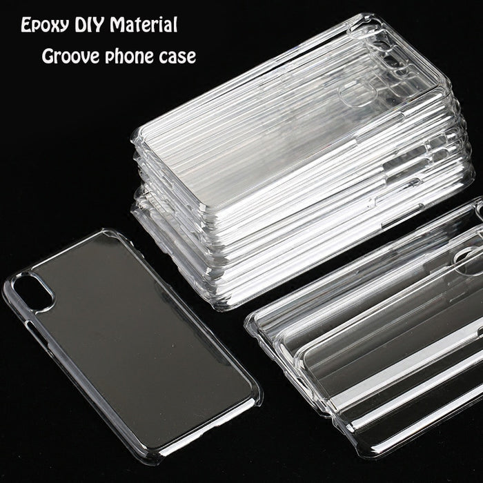 Moroyal Clear TPU Transparent Epoxy DIY Groove Cell Phone Case (for iphone)