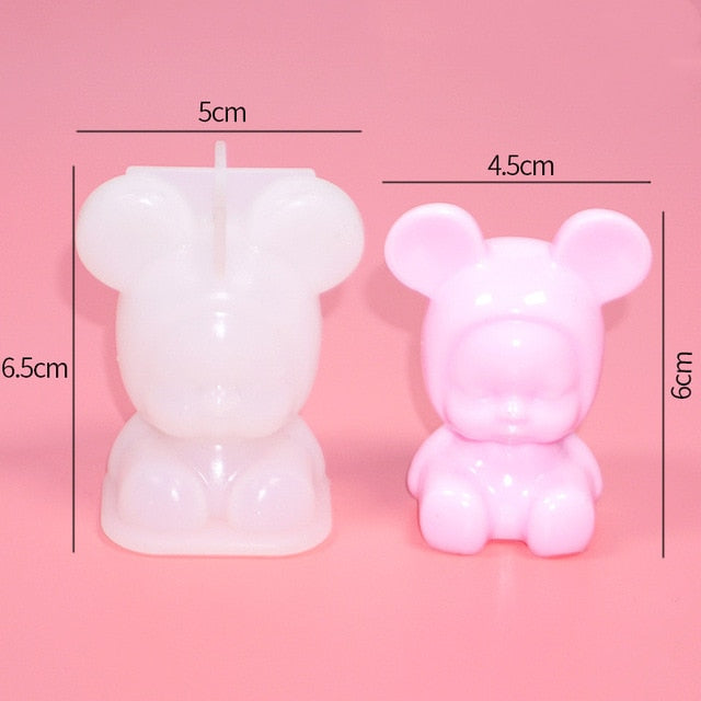 Resin Silicone Mold 3D animal baby horse Crafts DIY Jewelry Making tool epoxy resin molds Silicone Mould Decorative