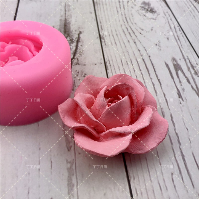 3D Flower Rose Silicone Fondant Cake Mold Soap Jelly Mousse Chocolate Decoration Baking Tool Moulds Reusable material
