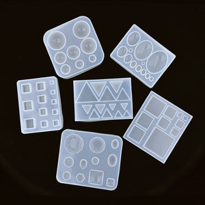 cute beads Cube triangle Silicone Mold for jewelry earrings pendant making Resin jewelry tool UV epoxy resin molds crafts