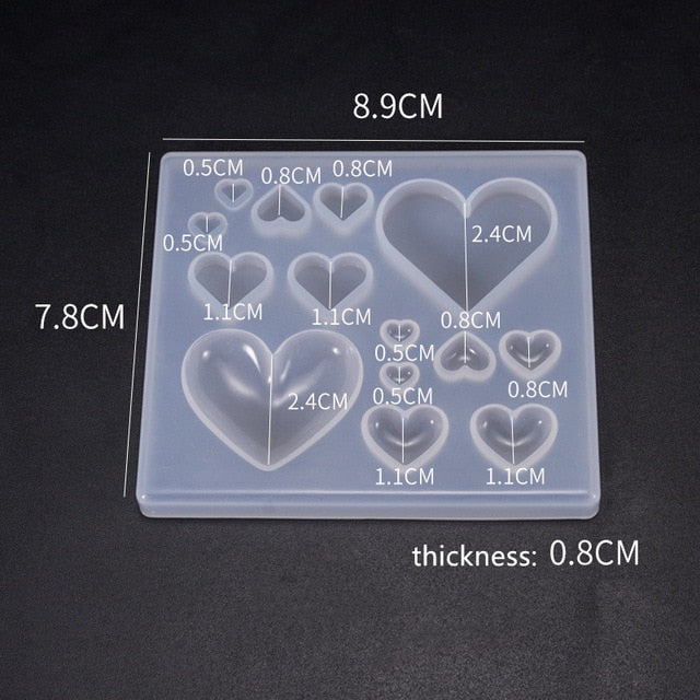 Perfume bottle heart fruits Silicone Mold for jewelry making Resin jewelry tool UV epoxy resin molds decorative crafts