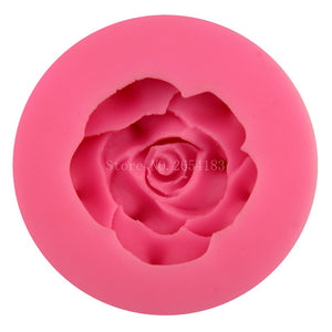 Beautiful Flower Rose Silicone Fondant Soap 3D Cake Mold Cupcake Jelly Candy Chocolate Decoration Baking Tool Moulds FQ3181