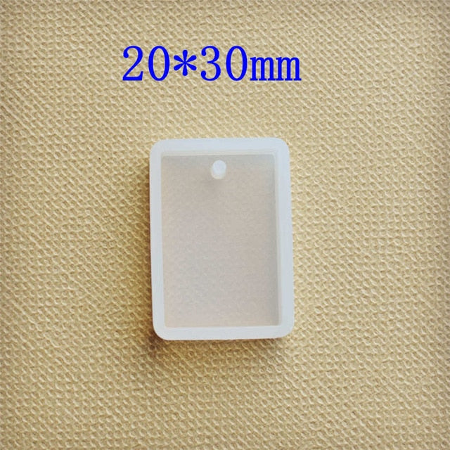 Silicone pendant Mold Resin Silicone Mould handmade DIY Jewelry Making epoxy resin molds Square Round Oval rectangle drop
