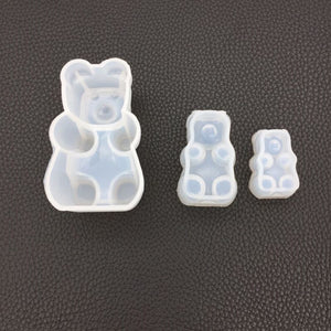Different Bear Sugar Molds Expoxy Resin Jewelry Mold for Making Jewelry Pendant Pendant Tools