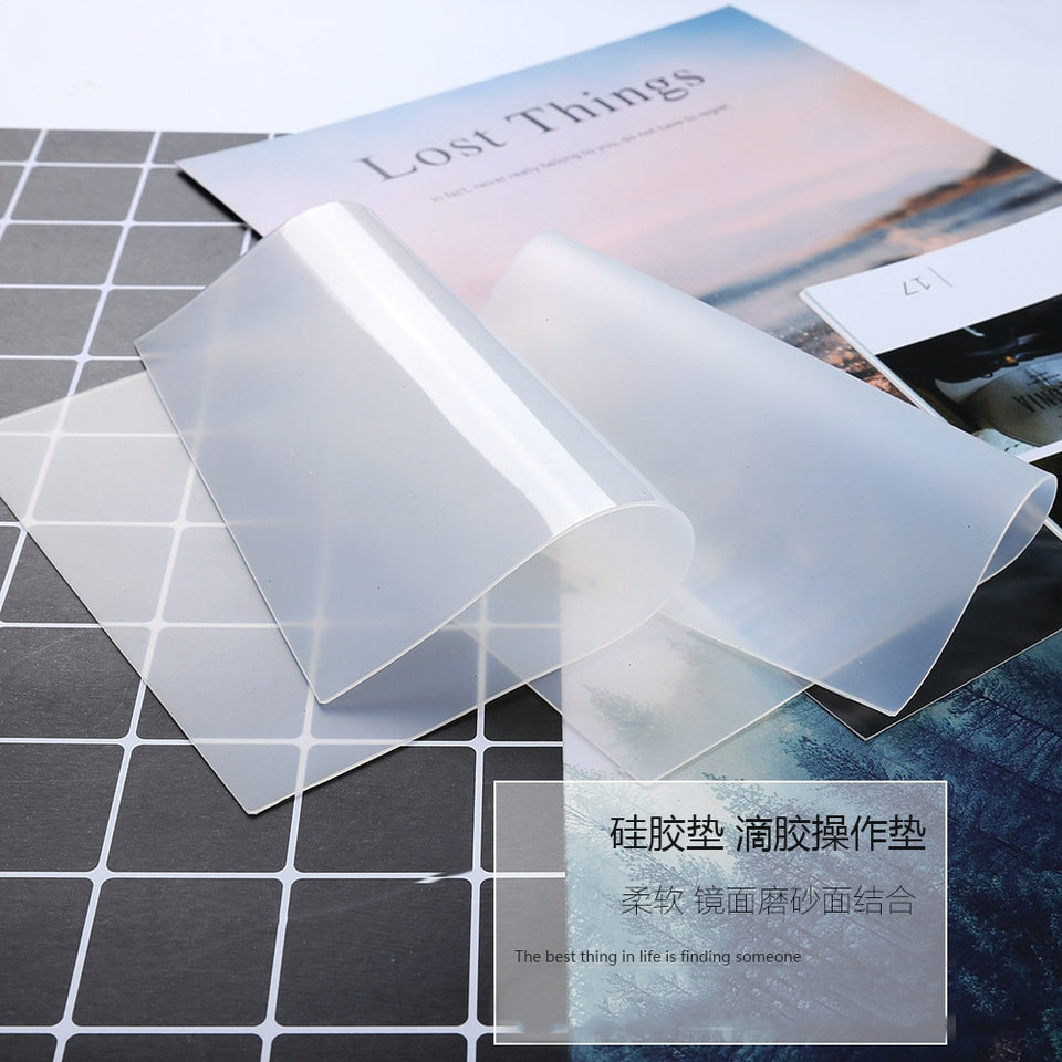 High Quality Silicone Pad Clear Mat Resin Pad Craft Tool High Temperature Resistance Sticky Plate Jewelry Making Tool