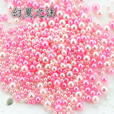 9g/pack 2.5-5mm Mixed Gradient Pearls Without Holes Resin Accessories Jewelry Fillings Mermaid Beads