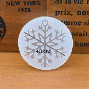 Silicone Mold for jewelry snowflake charms pendant Resin Silicone Mould  handmade tool  epoxy resin molds