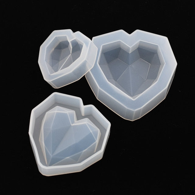 1 PC Silicone Mold Crafts heart Resin Mould