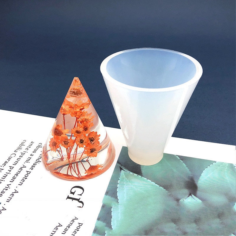 cone Silicone Mold for jewelry making tool diy UV epoxy resin molds Dried Flower Resin Decorative