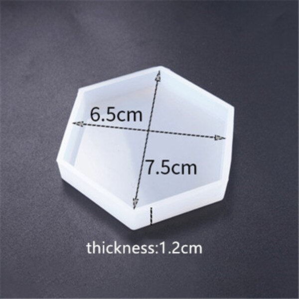 Cup mat Silicone Mold for jewelry making Resin diy jewelry accessories tool UV epoxy resin molds decorative craft