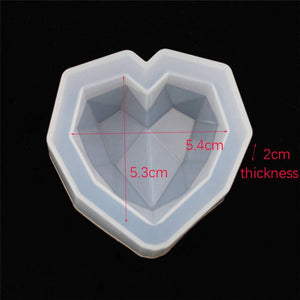 1piece  Silicone Mold Crafts heart shape Resin Silicone Mould Jewelry Making tool charms epoxy resin molds crafts