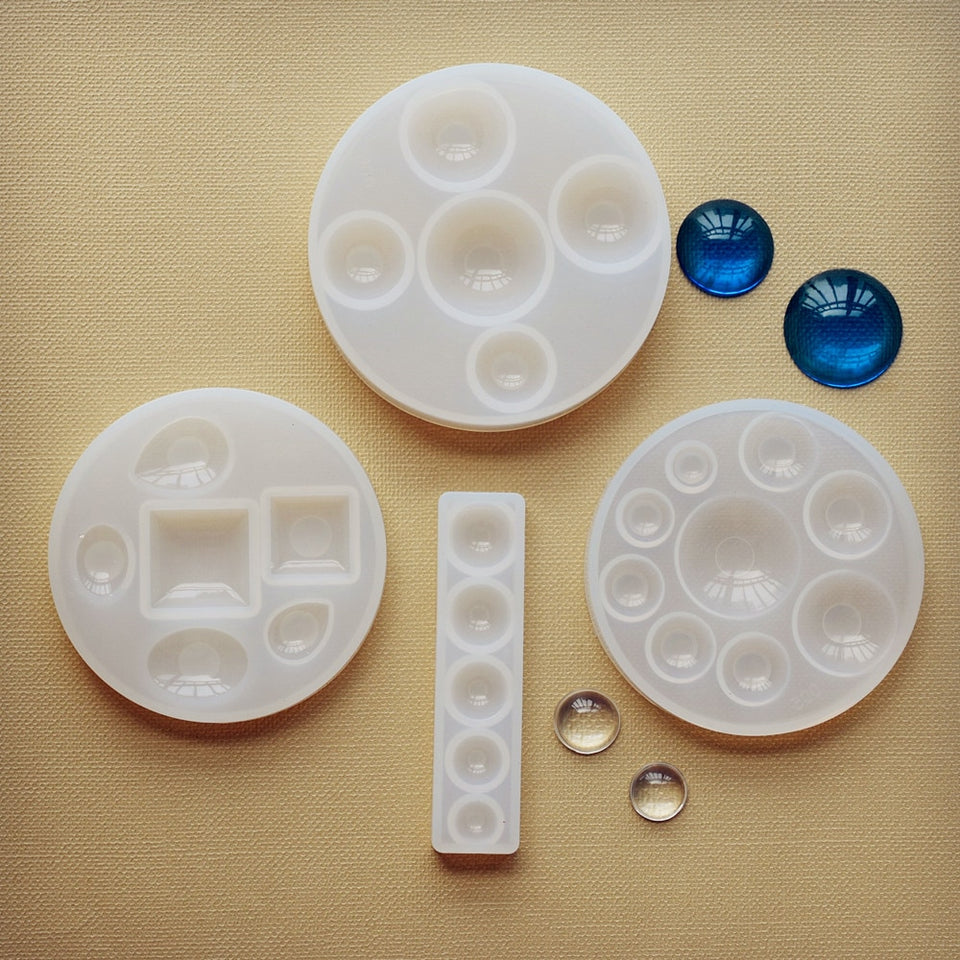 Silicone Mold half ball Oblate Cabochon pendant Resin Silicone Mould handmade tool  epoxy resin molds  jewelry making
