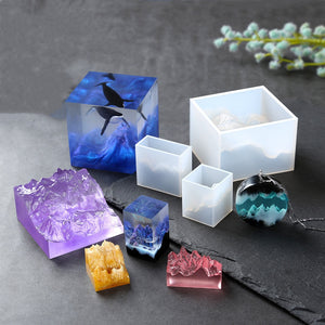 Silicone Mold Crafts Mountain Peak Shaped UV Resin Silicone Mould Jewelry Making tool Decoration resin molds