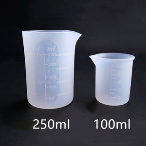 1PC Silicone measuring cup 250ML 100MLResin Silicone Mould handmade DIY Jewelry Making tool epoxy resin cup