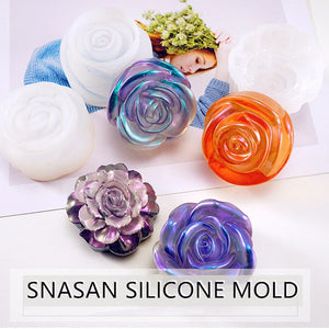 3D flower necklace pendant Silicone Mold for jewelry making Resin jewelry tool UV epoxy resin molds decorative craft