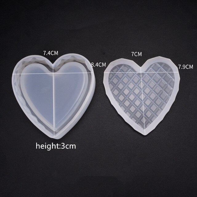 Storage box flower heart Hexagon shape Resin Silicone Mould Jewelry Making DIY tool UV epoxy resin Box silicone mold
