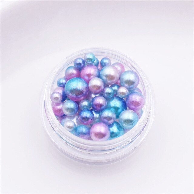 2 boxes plastic pearl beads 2.5-5.5mm mixed tiny ball beads for glass globe Resin Silicone Mould silicon mold filler charms