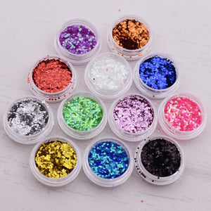 1pieces 1mm mini hexagonal Sequins filler glass globe silicon mold filler charms