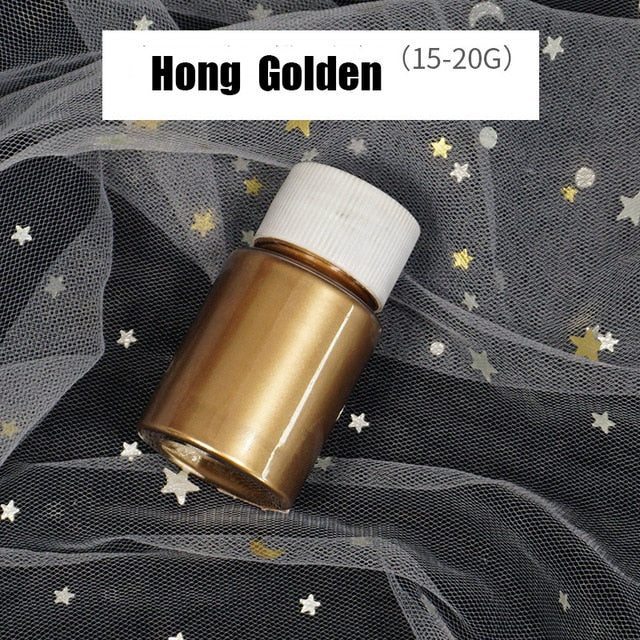 6 Color DIY Metallic Pearlescent Pigment For Metallic Colorant Dye UV Epoxy Material Pearls Epoxy Resin Colour Jewelry Making