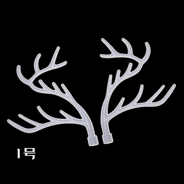DIY Jewelry Display Rack Resin Mold Crystal Epoxy Silicone Big Antlers Tree Branch Jewelry Storage Rack Mold Manual Swing Table