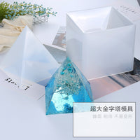 Super Big Pyramid Orgone Generator Mould Large Silicone Mold Geometry Mould Flexible Triangular Pyramid Mold Epoxy Resin Mold