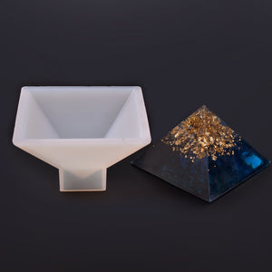 Crystal Epoxy Pyramid Silicone Resin Mold DIY Handmade Jewelry Resin Dried Flower Decoration Model