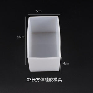 DIY Crystal Epoxy Resin Mold Rectangle Swing Table Resin Dried Flower Filled Rectangle Silicone Mold