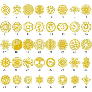 1Set Flower of Life Metal Copper Sticker DIY Epoxy Orgonite Aogang Orgenta Material