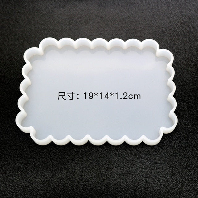 DIY Epoxy Resin mold square wave shaped table coaster mold round mirror handmade pendant mold jewelry making tools