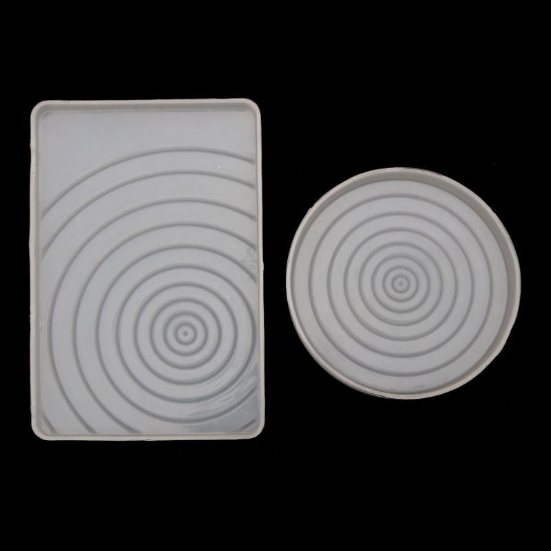 Round/Rectangle Ripple Coaster Jewelry Molds Silicone Epoxy Resin Jewelry Tools DIY Handmade Craft Jewelry Accessories