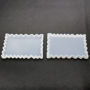 1PC DIY crystal epoxy Resin mold irregular coaster mold hand pendant to make mirror silicone mold